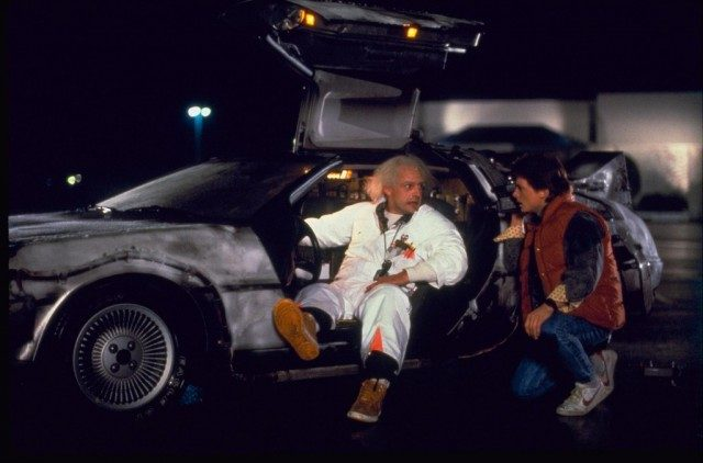 Christopher Lloyd and Michael J. Fox in 'Back to the Future'