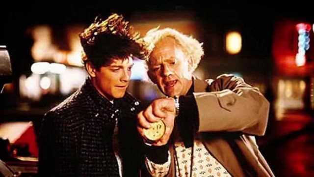 Eric Stoltz and Christopher Lloyd in 'Back to the Future'