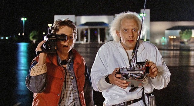 Michael J. Fox and Christopher Lloyd in 'Back to the Future'