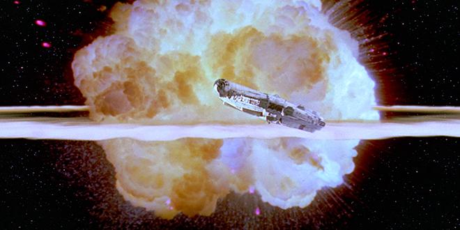 Death Star explodes in Star Wars