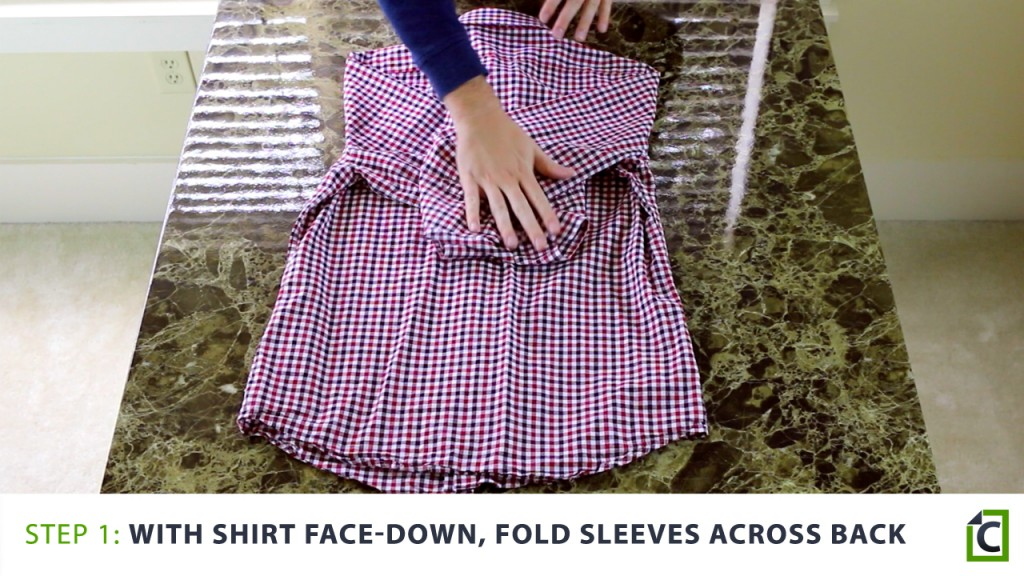 the steps to folding a shirt correctly