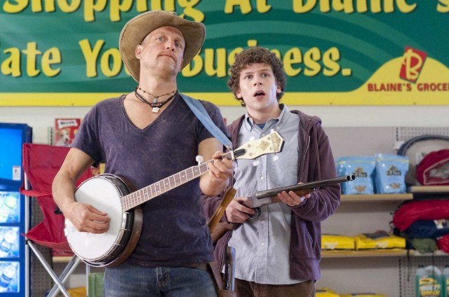 Woody Harrelson and Jesse Eisenberg in 'Zombieland'