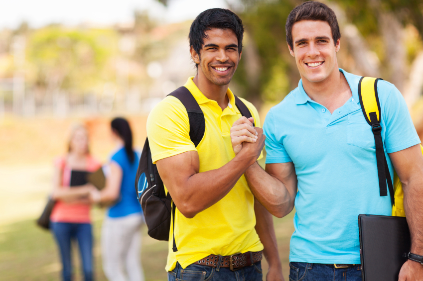 two college students