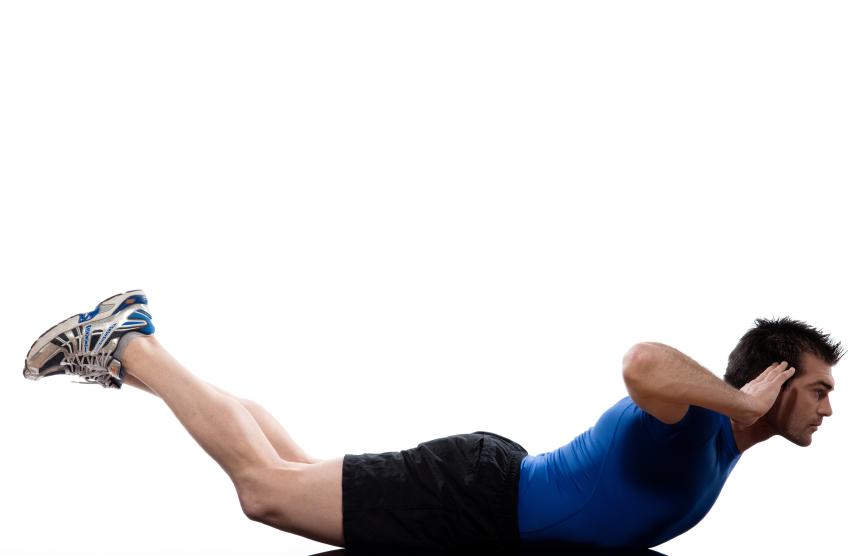 Man doing an arch hold