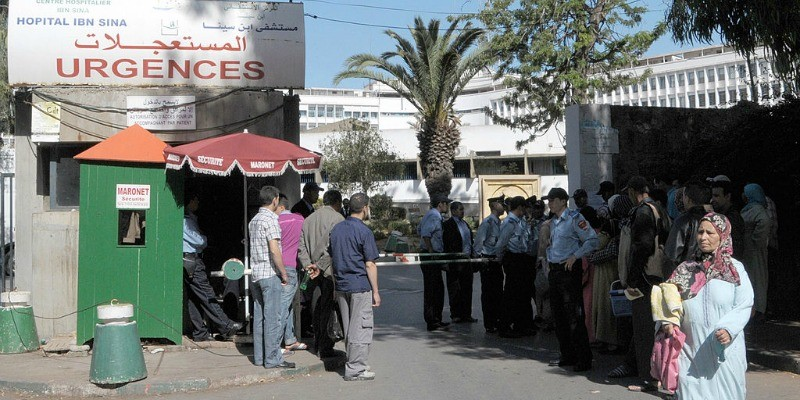 People injured from Mawazine Festival enter a hospital.
