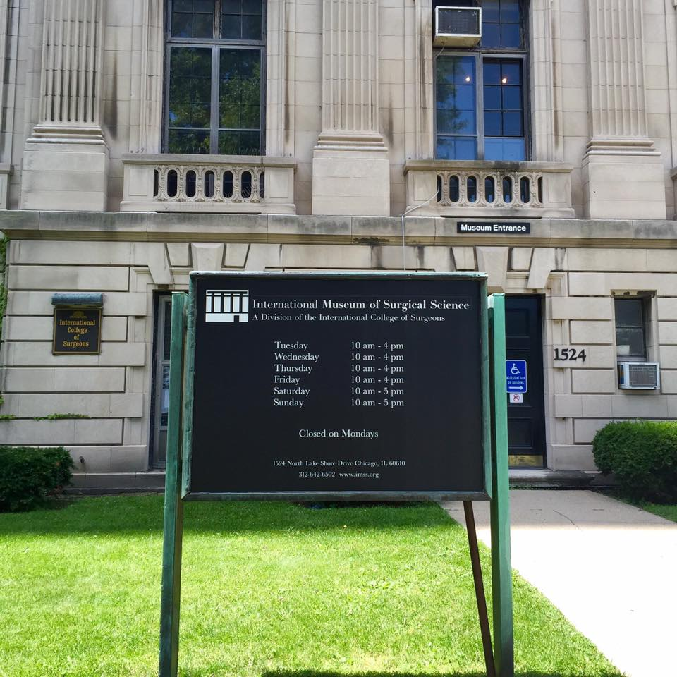Exterior of the International Museum of Surgical Science