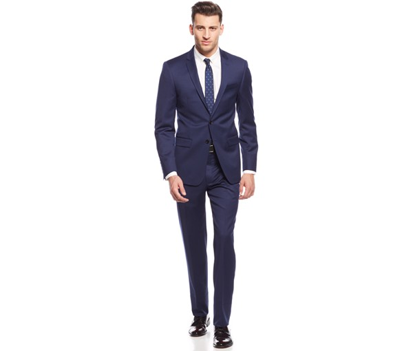 The navy wool suit