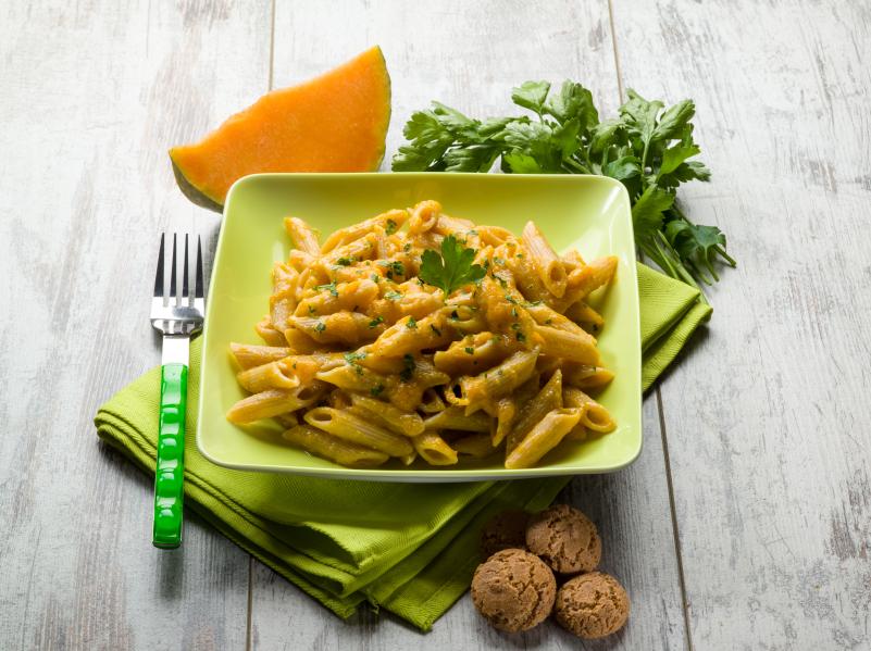 pumpkin pasta, penne