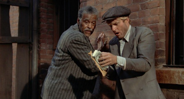 Robert Redford and Robert Earl Jones in 'The Sting.'