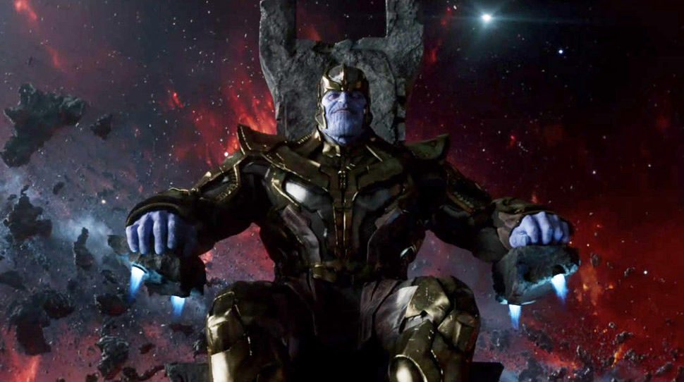 Thanos on his throne