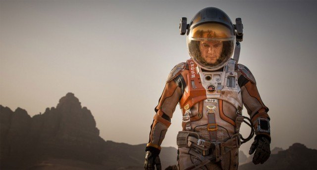 A man in an astronaut 'The Martian'.