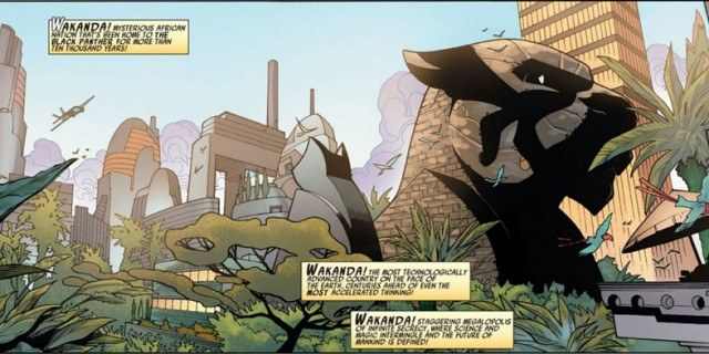 Wakanda, as seen in Marvel's Black Panther comics