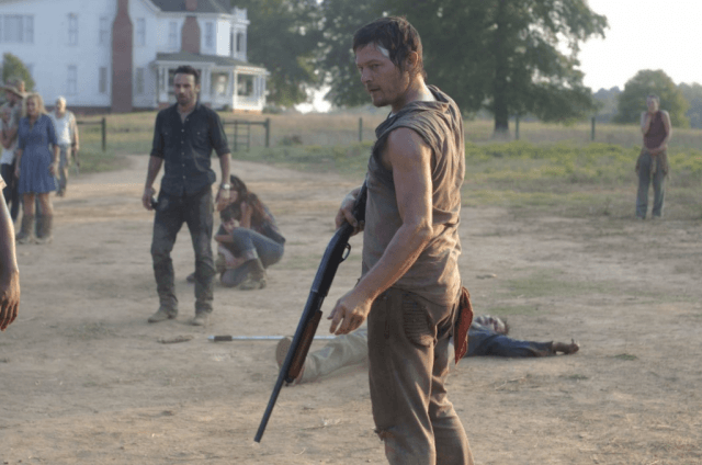 'The Walking Dead' episode 'Pretty Much Dead Already' with Andrew Lincoln as Rick and Norman Reedus as Daryl.