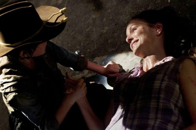 'The Walking Dead' episode 'Killer Within' with Chandler Riggs as Carl and Sarah Wayne Callies as Lori.
