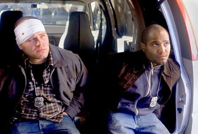 Domenick Lombardozzi and Seth Gilliam in 'The Wire'