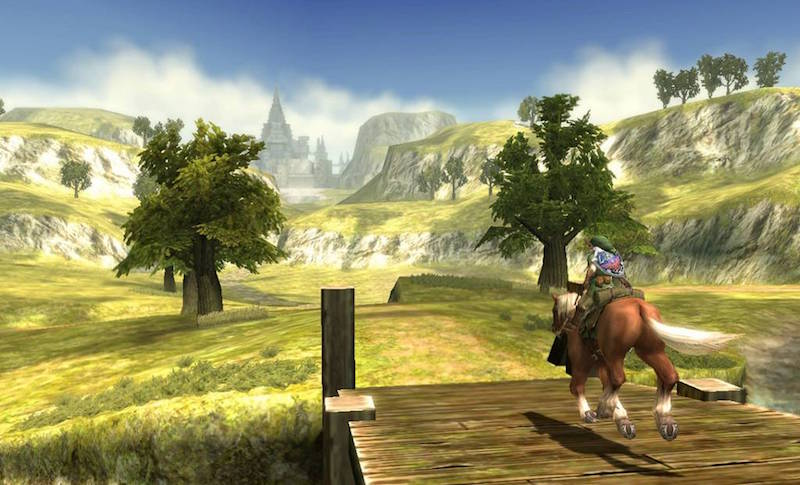 Link rides his horse Epona in this HD remaster for Wii U.