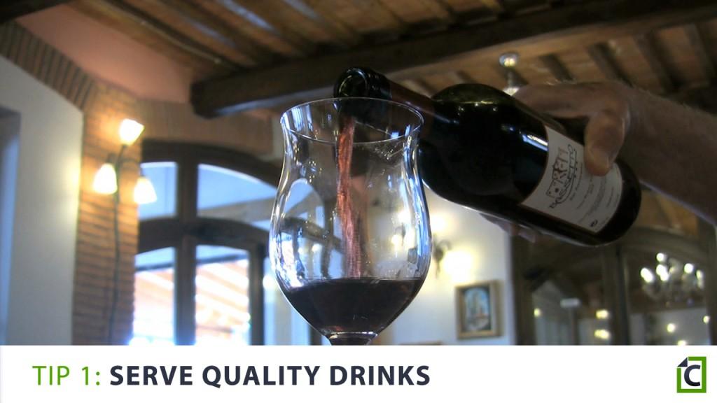 1 serve quality drinks