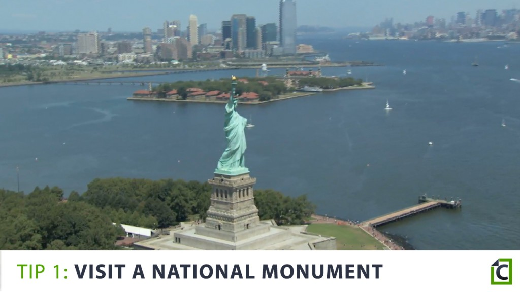 1. visit a national monument