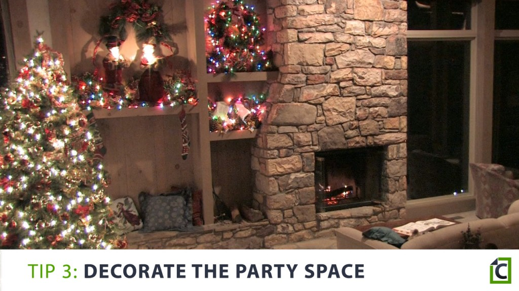 3 decorate the party space