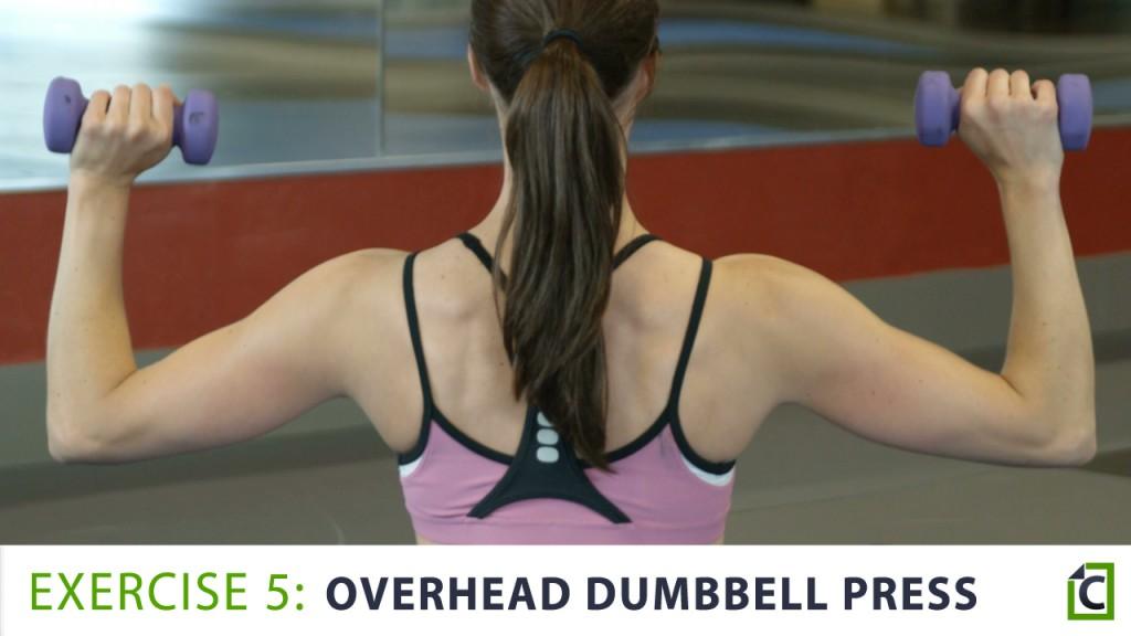 5. overhead dumbbell press