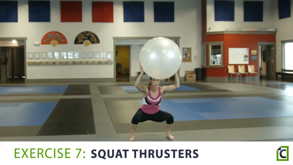 7. squat thrusters