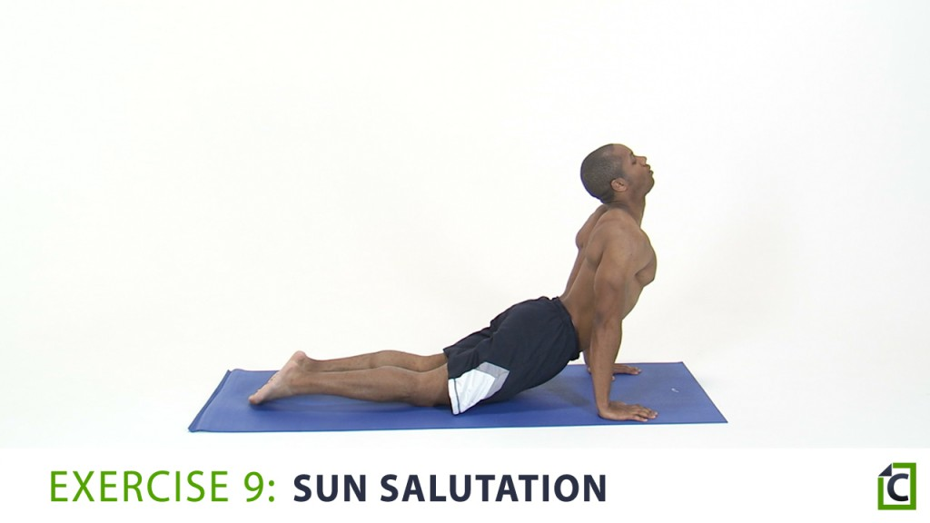 9. sun salutation
