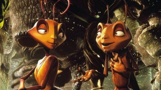 Two ants talking to each other.