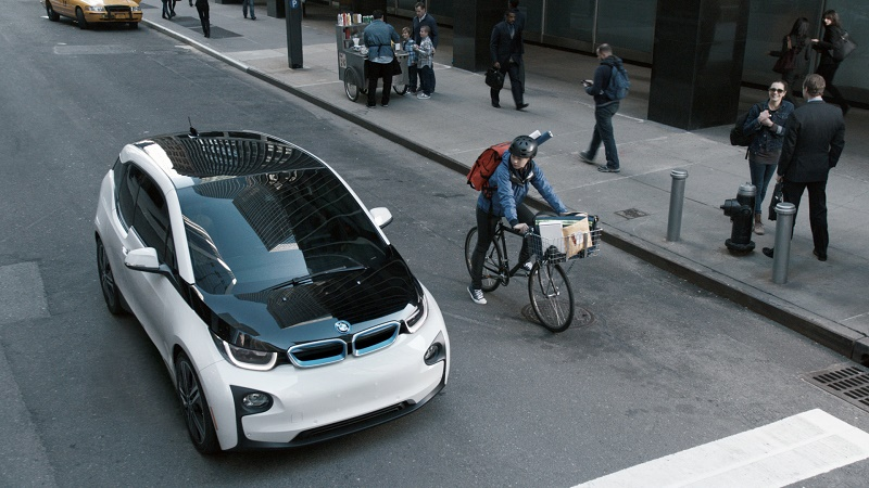 BMW i3 on a New York street
