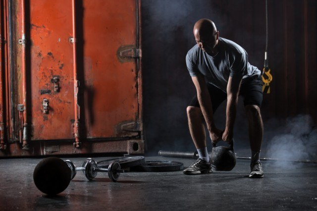 Start with kettlebells before a barbell deadlift.