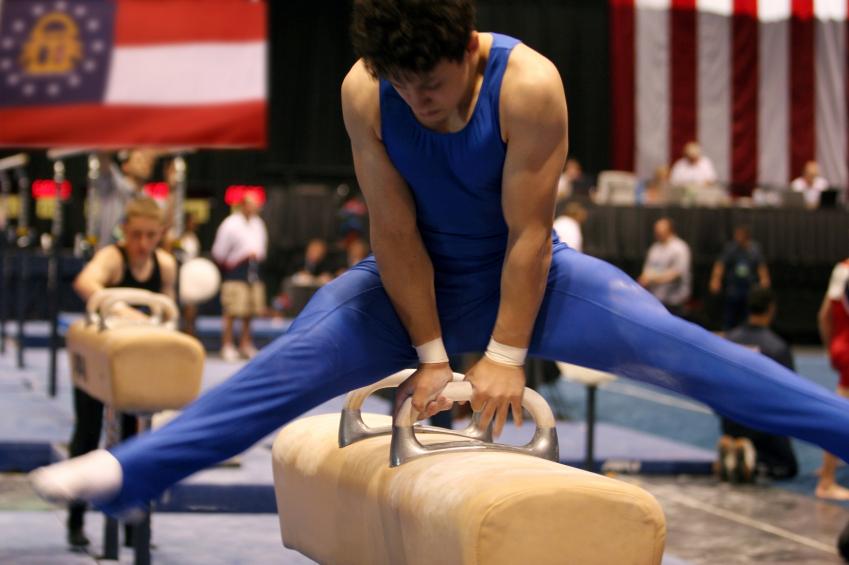 pommel horse, gymnastics