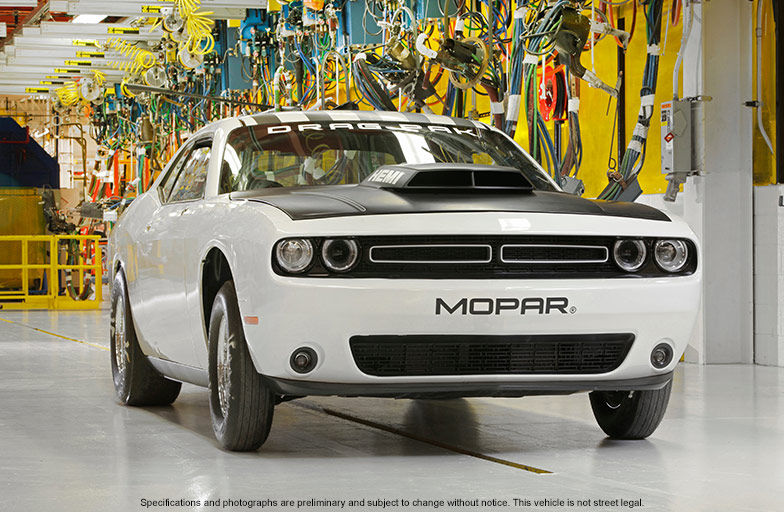 The 2016 Dodge Challenger Drag Pak in white