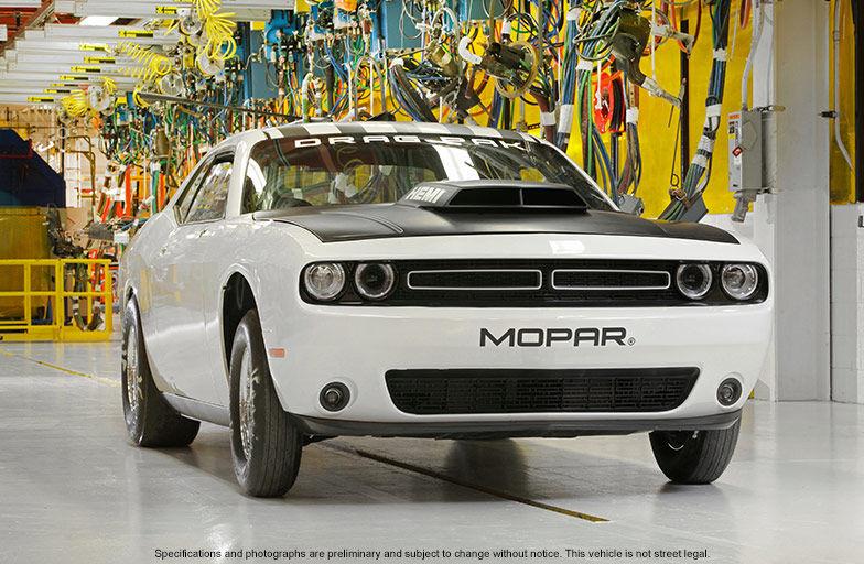 The 2016 Dodge Challenger Drag Pak in white