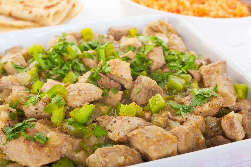 pork chile verde, a Tex-Mex pork stew