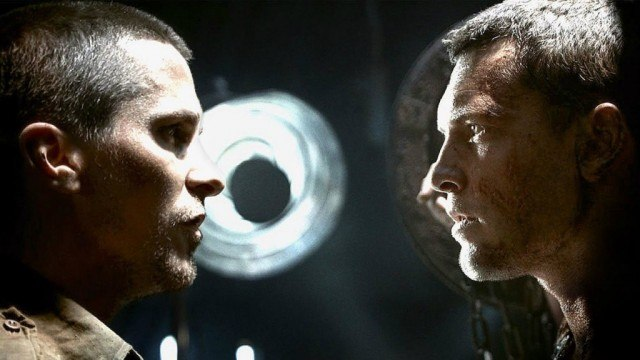 Christian Bale and Sam Worthington in Terminator Salvation