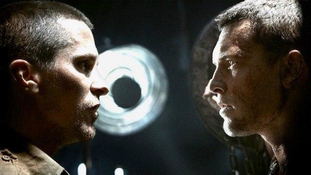 Christian Bale and Sam Worthington in Terminator Salvation
