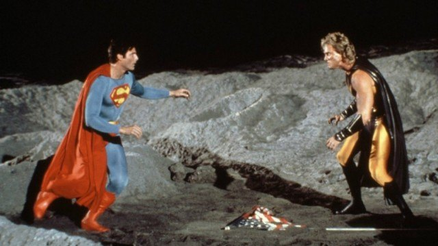 Christopher Reeve and Mark Pillow in 'Superman IV: The Quest for Peace'