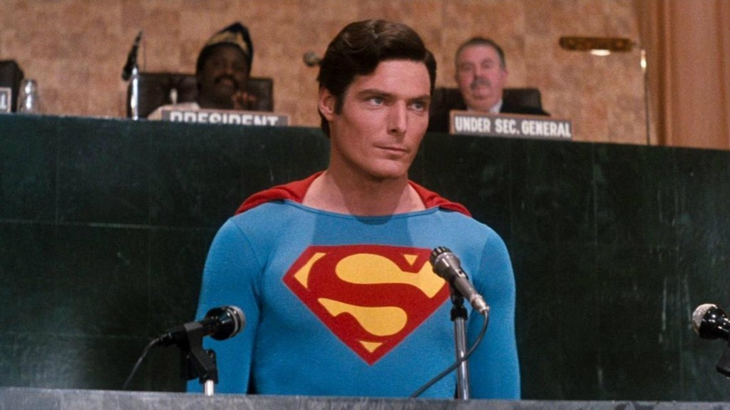 Christopher Reeve in 'Superman IV: The Quest for Peace'