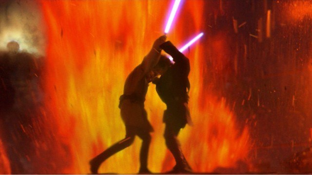 Ewan McGregor and Hayden Christensen in 'Star Wars: Revenge of the Sith'