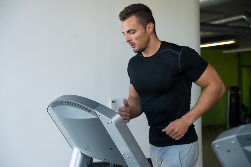 Man running on the treadmill
