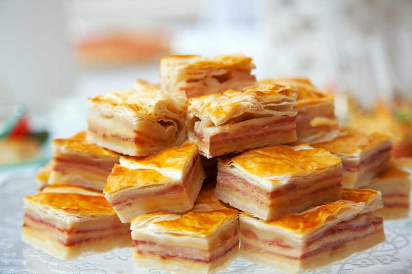 ham and cheese sandwiches, pastry