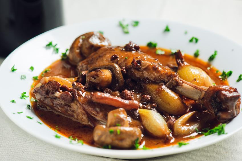 coq au vin chicken stew