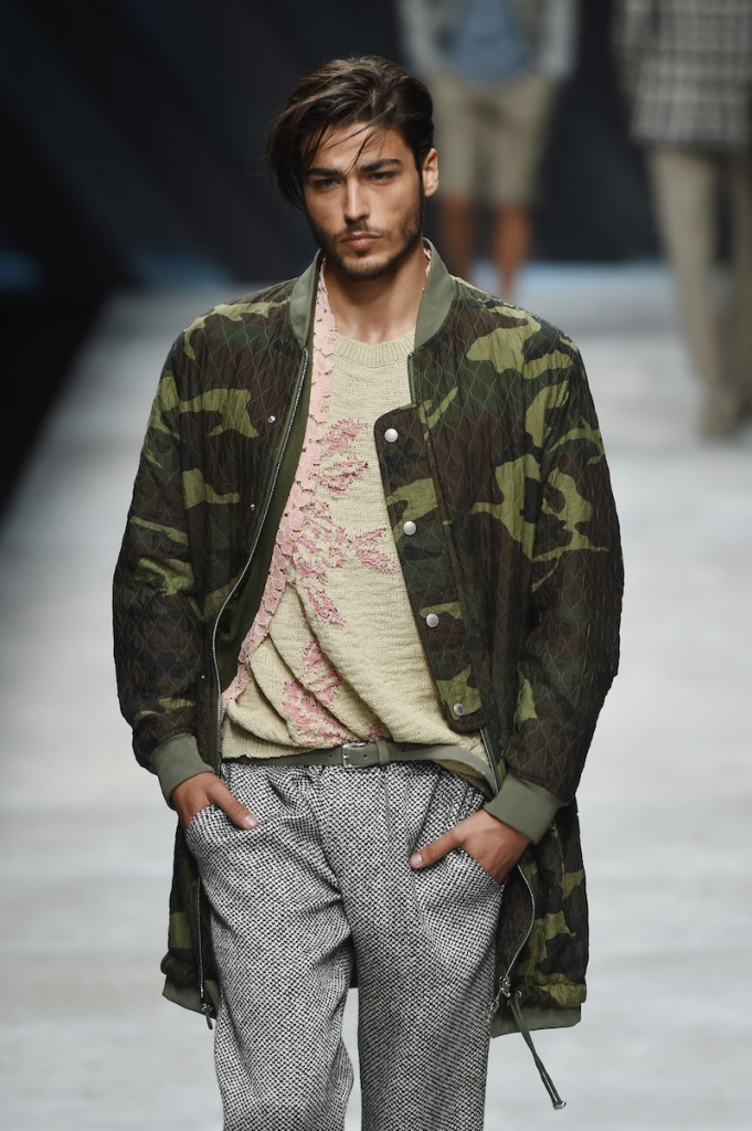 A model walks the runway during the Ermanno Scervino fashion show as part of Milan Men's Fashion Week Spring/Summer 2016 on June 23, 2015 in Milan, Italy. (Photo by Tullio M. Puglia/Getty Images)