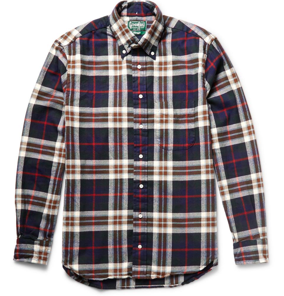 Gitman Vintage plaid flannel shirt at Mr. Porter