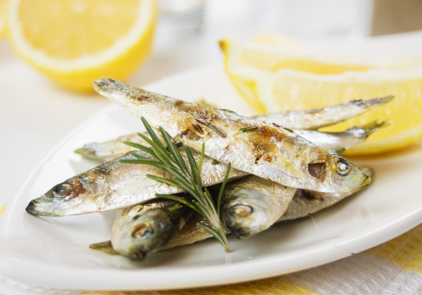 grilled srdines with rosemary and lemon