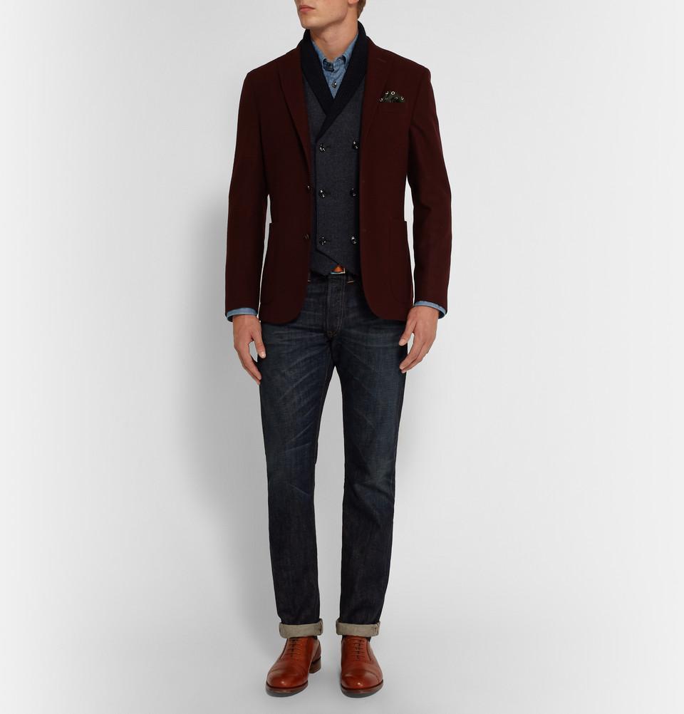 Hardy Aimes shawl-collar waistcoat