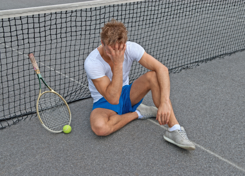tennis player, lost game, athlete, negative thoughts