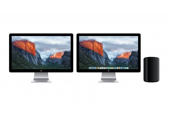 Mac Pro with monitors