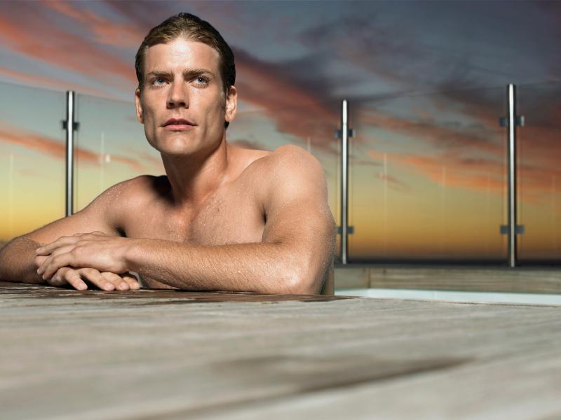 swimmer thinking, mental, pool