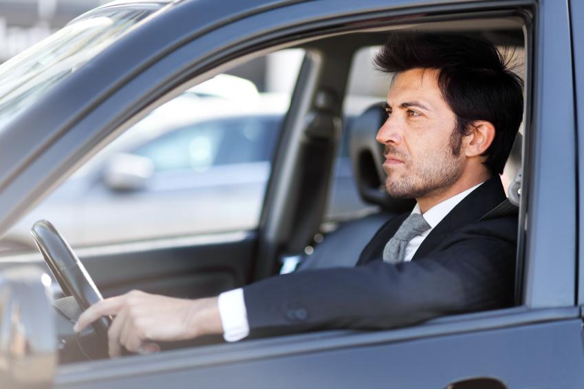 Source: A man behind the wheel