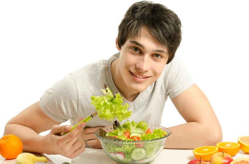 A man displaying healthy habits